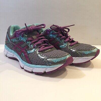 Aasics Women's 8 Gel-Excite 3 Teal Pink Purple Athletic Shoes Sneakers Running