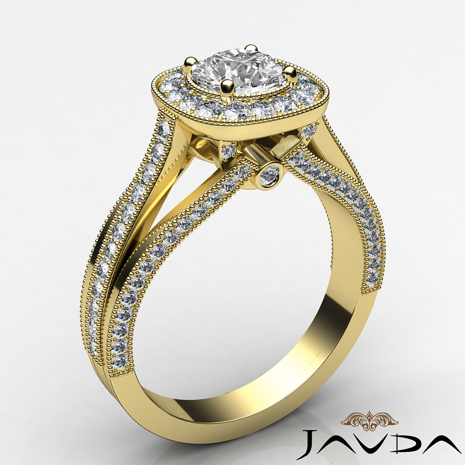 1.6ctw Bridge Accent Round Diamond Engagement Ring GIA E-VVS2 White Gold Rings 7
