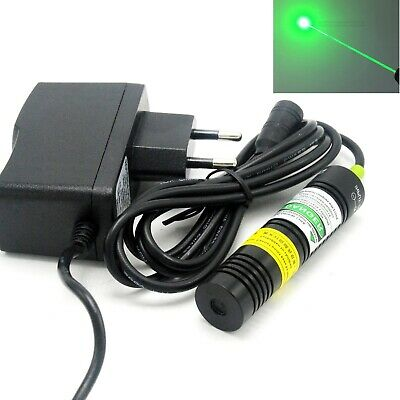 532nm 100mw Green Focus Dot Laser Diode Module 18x75mm Led Locator 5v Adapter
