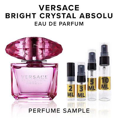 Versace Bright Crystal Absolu EDP Perfume Sample Vial Travel Purse Size Absolute