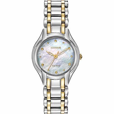 (Citizen Eco-Drive Women's EM0284-51N Silhouette 27mm Two-Tone Bracelet Watch)