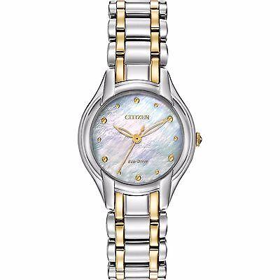 Citizen Eco-Drive Women's EM0284-51N Silhouette 27mm Two-Tone Watch