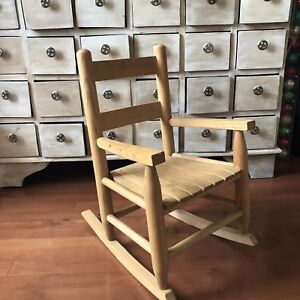 Toddler/Small Child Wooden Rocking Chair