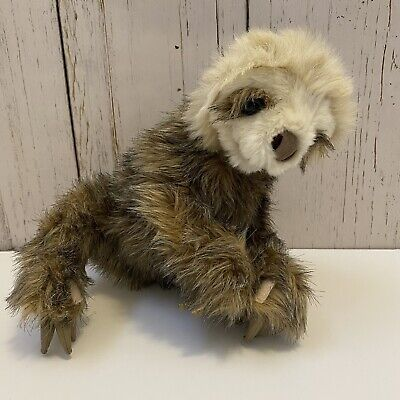 Folkmanis Sloth Hand Puppet Plush Animal With Hand And Feet Attachments Brown