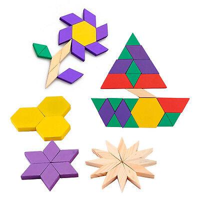 Holzmosaik 125Tlg.Legespiel Mosaik-Puzzle Holzbausteine Bauklotze Holzpuzzle