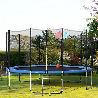 Merax 15 Foot Round Trampoline with Safety Enclosure, Basket