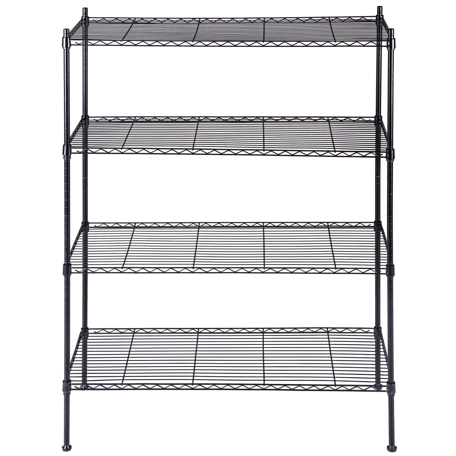 Kitchen Shelf Metal: Black Storage Rack 4-Tier Organizer Kitchen Shelving Steel