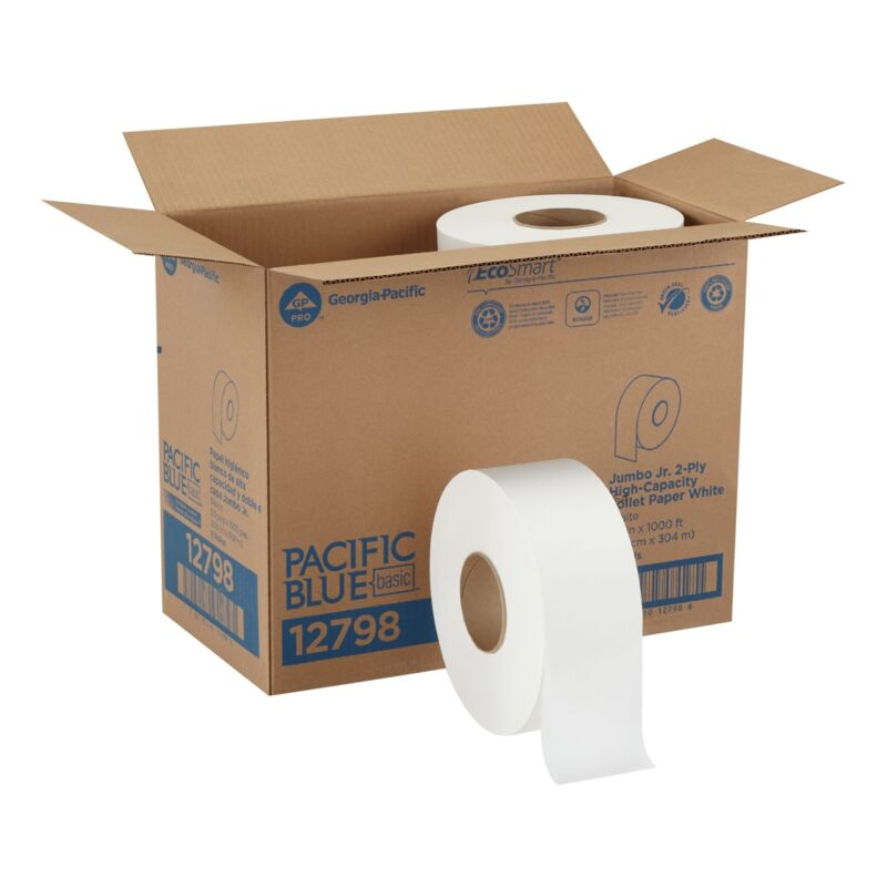Georgia Pacific Envision 2-Ply Toilet Tissue Paper Rolls Jumbo White 8 Ct 12798