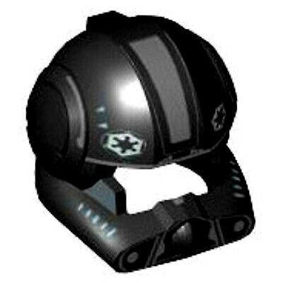 Lego Star Wars Minifig Helmet x 1 Black Imperial V-wing Pilot Helmet