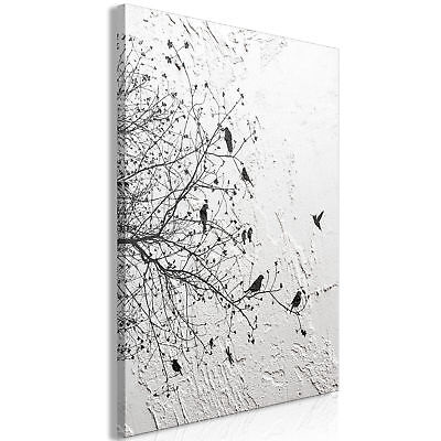 Vogel Leinwand Kunst (Leinwand Bilder Abstrakt moderne baum vogel Wandbilder XXL Wohnzimmer Kunstdruck)