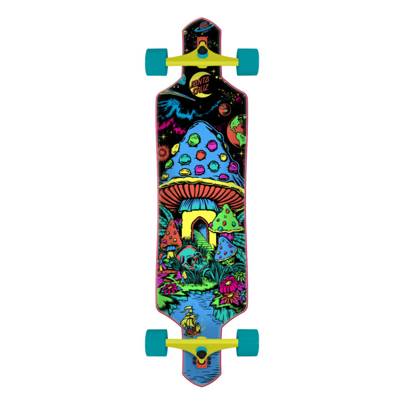 "Santa Cruz Longboard Complete Time Warp Drop Through Black 9.0"" x 36"""
