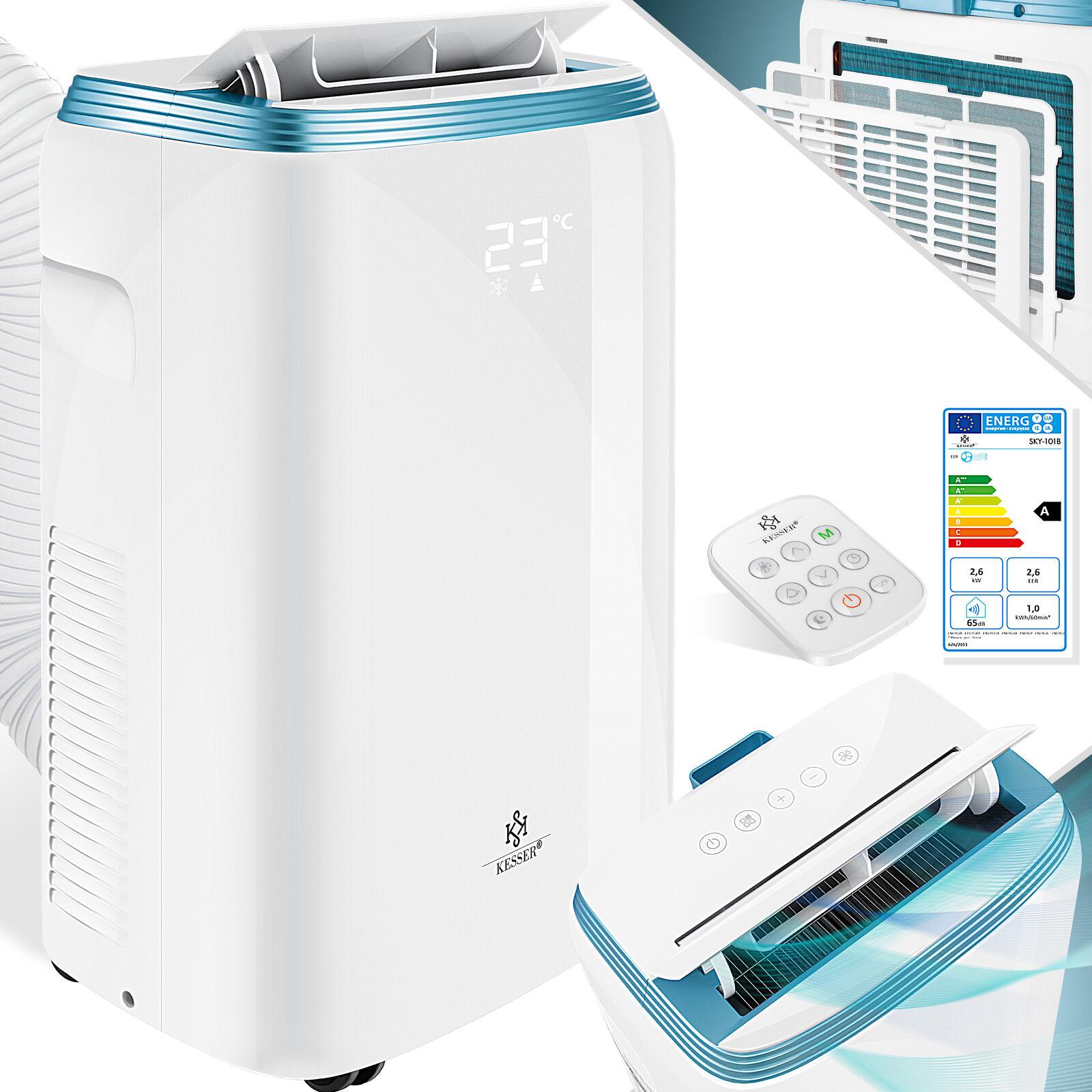 KESSER® Mobile Klimaanlage 9000 BTU 2,7KW 4in1 Klimagerät Klima Ventilator EEK A