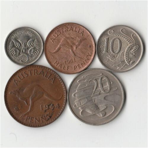 Australia - Lot of 5 Coins #939