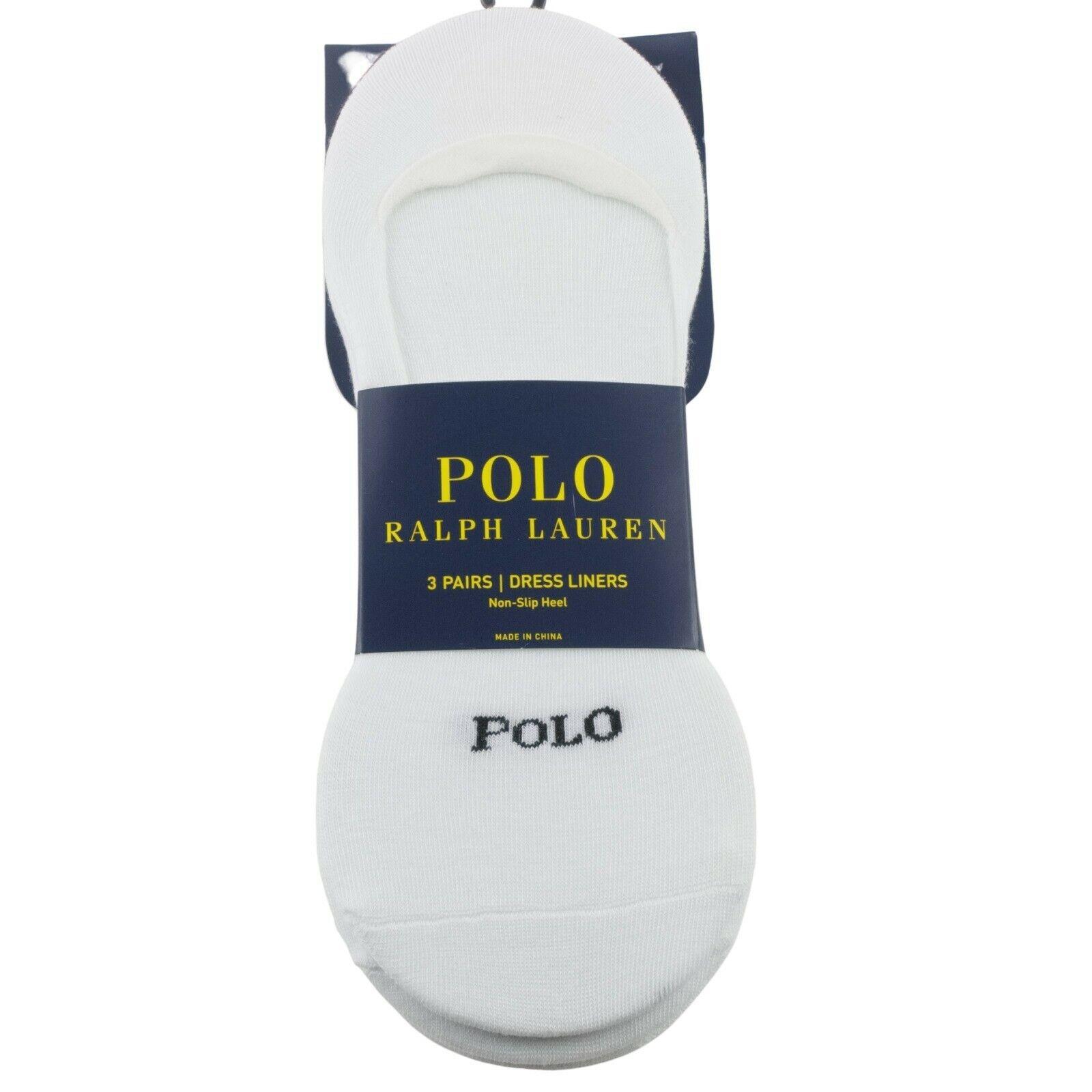 Polo Ralph Lauren Mens No Show Dress Liners Socks Shoe Sz