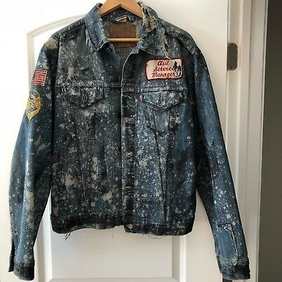 VINTAGE LEVI'S Jean Jacket NUMBERED Extremely RARE One of a Kind Patches Levis