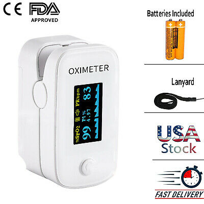 Oled Finger Tip Pulse Oximeter Blood Oxygen Meter Heart Rate Monitor - Ym201 Fda
