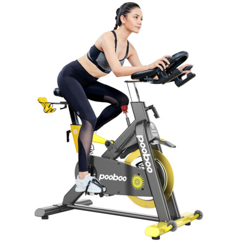 Commercial Exercise Bike Magnetic Resistance Stationary Bike Indoor Cycling Bike