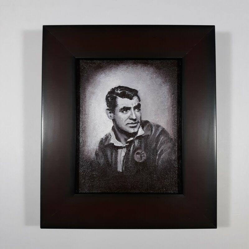 Painting 4 x 5 Acrylic on Canvas Cary Grant Film Movie Memorabilia Art Portrait