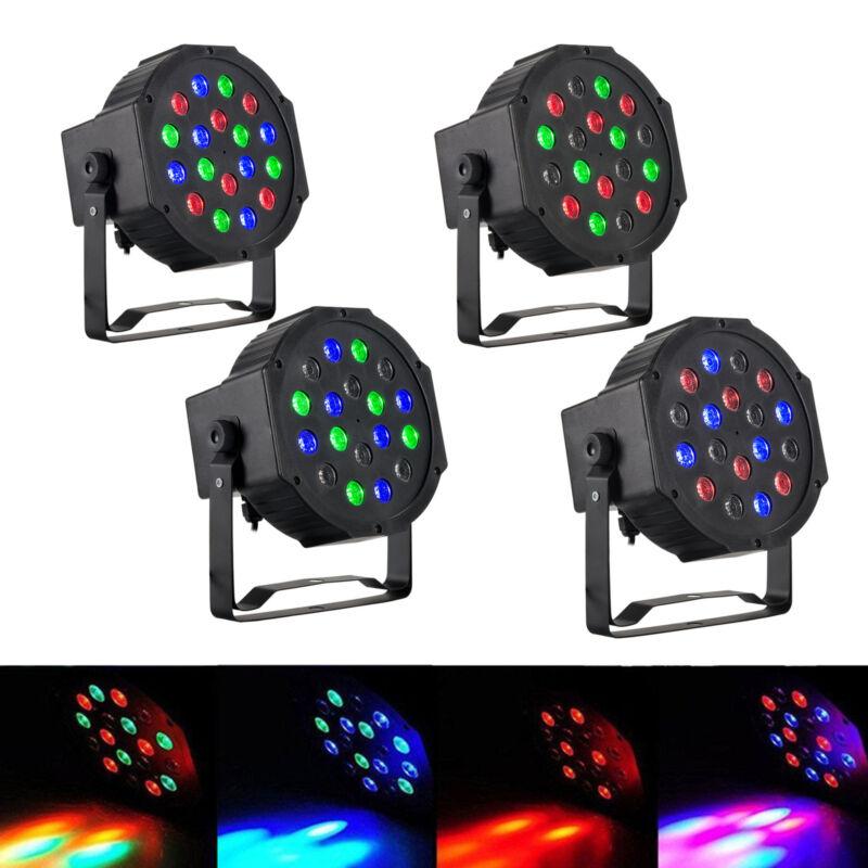 4pack par light 18 3w 6 channel