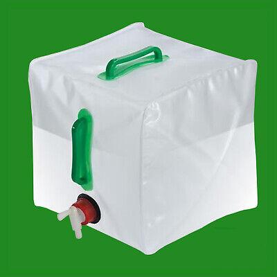 20L Plegable Agua Portador Almacenaje Contenedor con Grifo Jardinería,Acampada