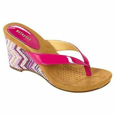 - New!  Women's Metaphor Kandor Wedge Sandals in fuchsia-Cute!!  98F