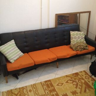 Retro vintage couch - leather back Waterloo Inner Sydney Preview