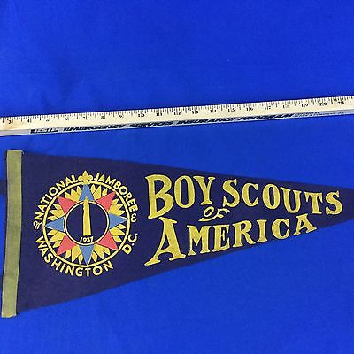Boy Scout 1937 National Scout Jamboree Pennant Boy Scouts Of America