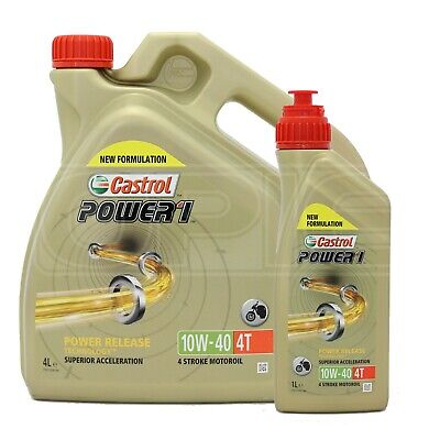 Castrol Power 1 4T 10w-40 Semi Synthetic Motorcycle Engine Oil