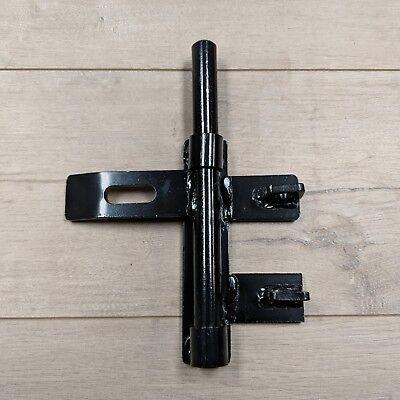 (3/4 Heavy Duty Slide Bolt Weld On Steel Latch for Metal Gates Doors | Black)