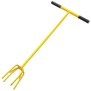 Long Handled Twist Cultivator Claw 4 Prong Weeding Remover Garden Rotorvator