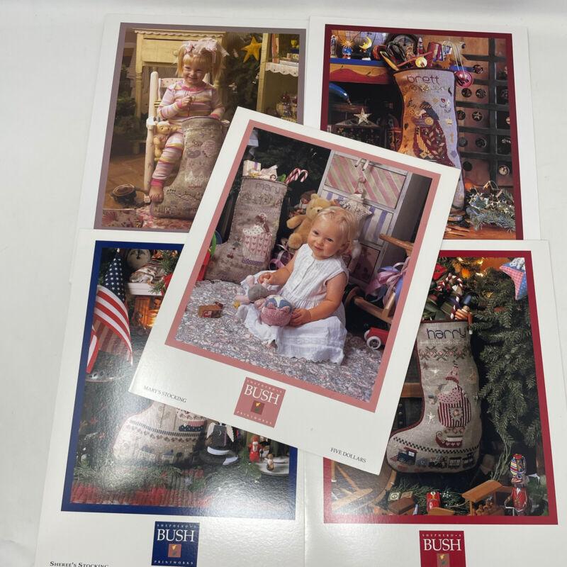 Lot 5 Shepherds Bush Cross Stitch Pattern Christmas Stocking Leaflets Mary