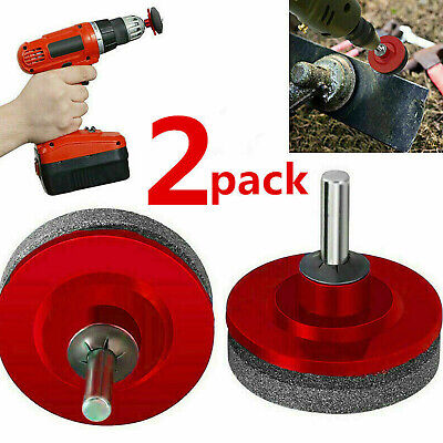 2pcs Universal Lawn Mower Faster Blade Sharpener Grinding Power Drill Garden Kit 2 Lawn Mower Blades