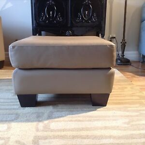 Quality leather ottoman or footstool