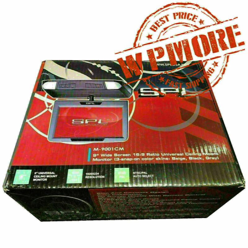 "SPL M 9001 CM 9"" WIDESCREEN Overhead Flip Drop Down Screen LCD USB SD Card Port"