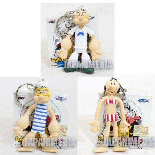 Set of 3 Popeye Bendable Figure Keychain