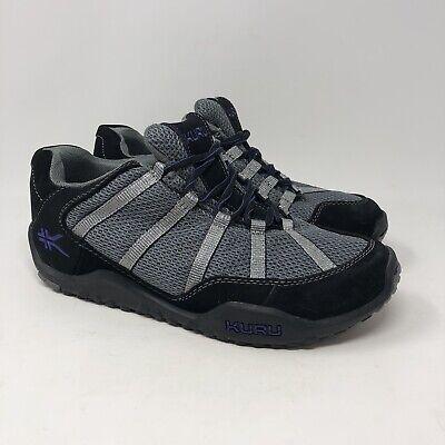 Kuru Chicane Women's Shoes Size 8.5 Black Blue Lace Up Orthopedic Walking
