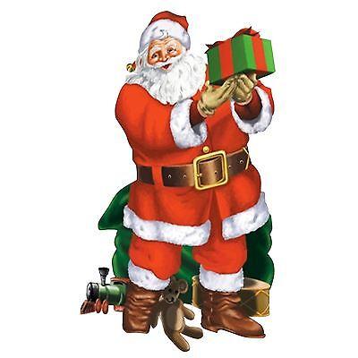 Giant Santa Toy Christmas Party Scene Setter Add-on Prop Santa's Decoration 5ft