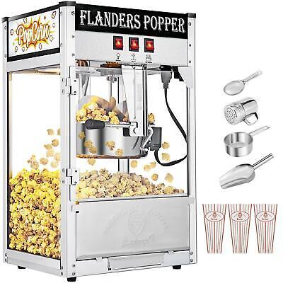Zokop 8oz Capacity Vintage Healthy Hot-air Tabletop Popcorn Maker Machine Movie