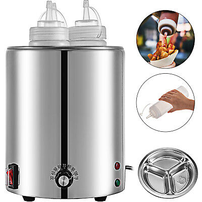 Electric Countertop Topping Bottle Warmer 3 23.6 Oz. Squeeze Cheese Dispenser