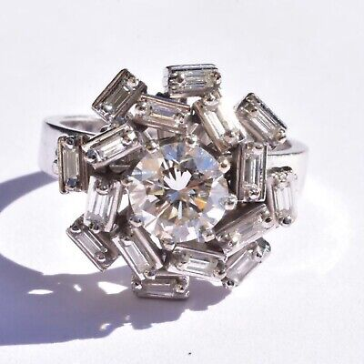 Diamond Cluster Ring 1.6 carat 18k