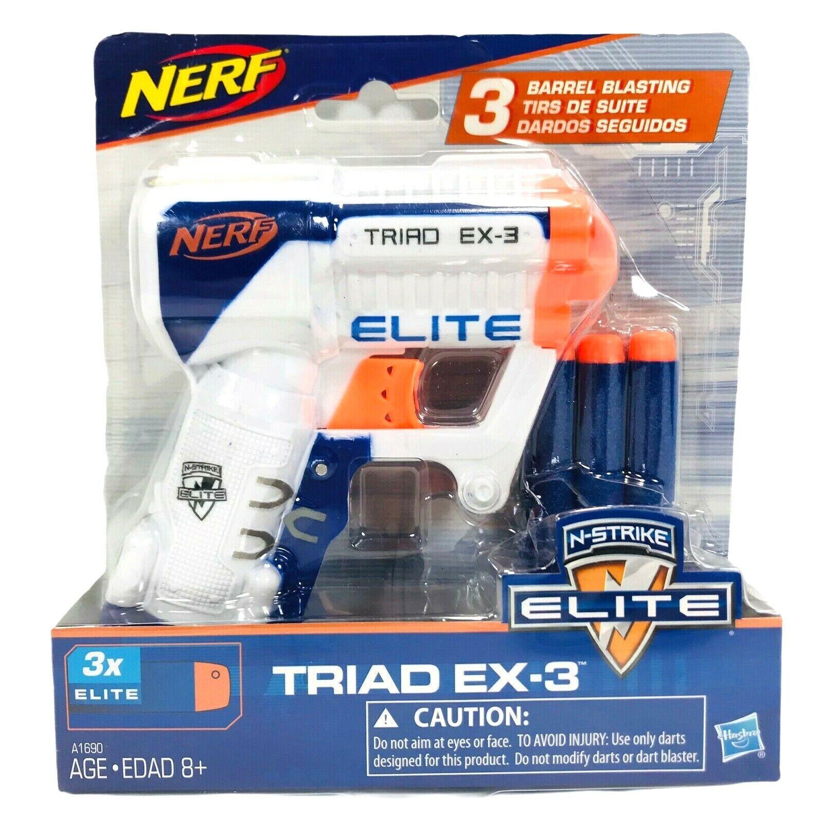 Nerf N-Strike Elite Triad EX-3 Blaster Gun with 3 Darts - Mo
