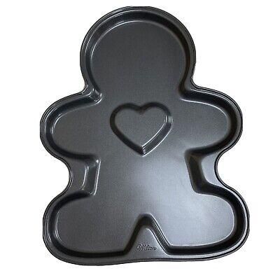 Wilton Cookie Pan - Dark Gray Pan - Gingerbread Man with Heart -