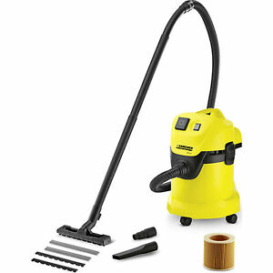 Karcher WD 3 P Wet & Dry Vacuum Cleaner with 17 Litre Tank 1000w 240v