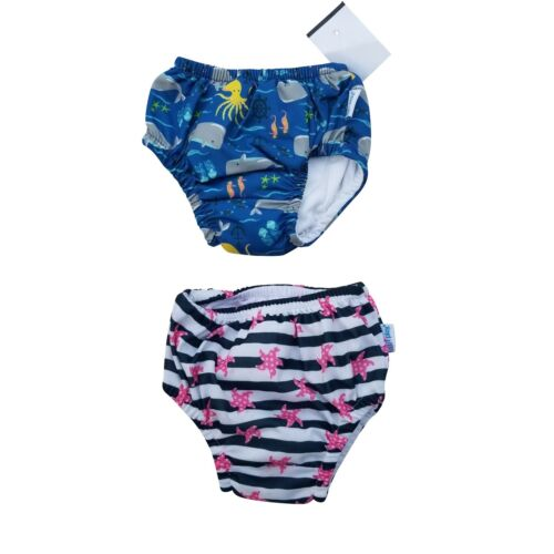 2 x iplay Baby Swim Diaper 6 months Waterproof Swimmer Reusable UPF50+