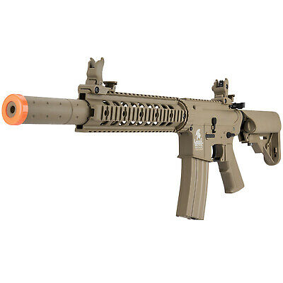 Lancer Tactical Gen 2 M4 SD 350 FPS Auto Electric AEG Airsoft Rifle Gun Tan