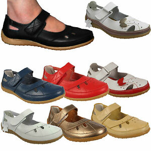 WOMENS-LADIES-BUTTERFLY-LEATHER-VELCRO-COMFORT-COMFY-FLAT-SHOES-SANDALS-SIZES