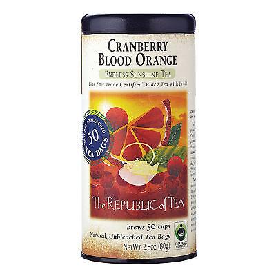 The Republic Of Tea Cranberry Blood Orange Black Tea, 50 Tea Bags, Gourmet Blend ()