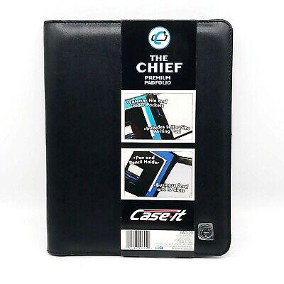 Case It The Chief Padfolio Premium Leatherette Black Writing Pad