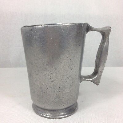 Vintage Aluminium Pint Tankard George VI? With Mark Trench Art?