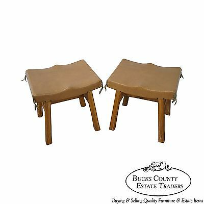 Brandt Ranch Oak Pair of Stools